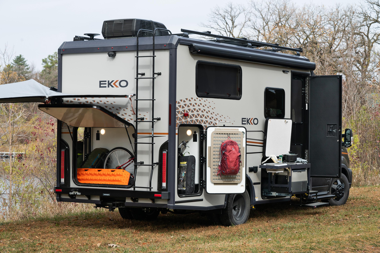 Winnebago EKKO - Outside kitchen and storage access
